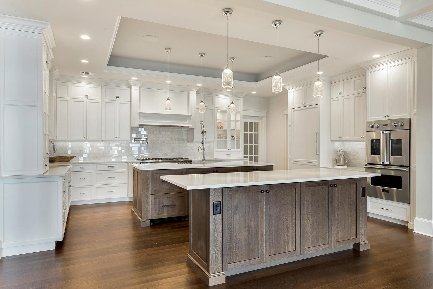 Kitchen Islands Peninsulas 3 custom kitchen islands White and Driftwood Kitchen