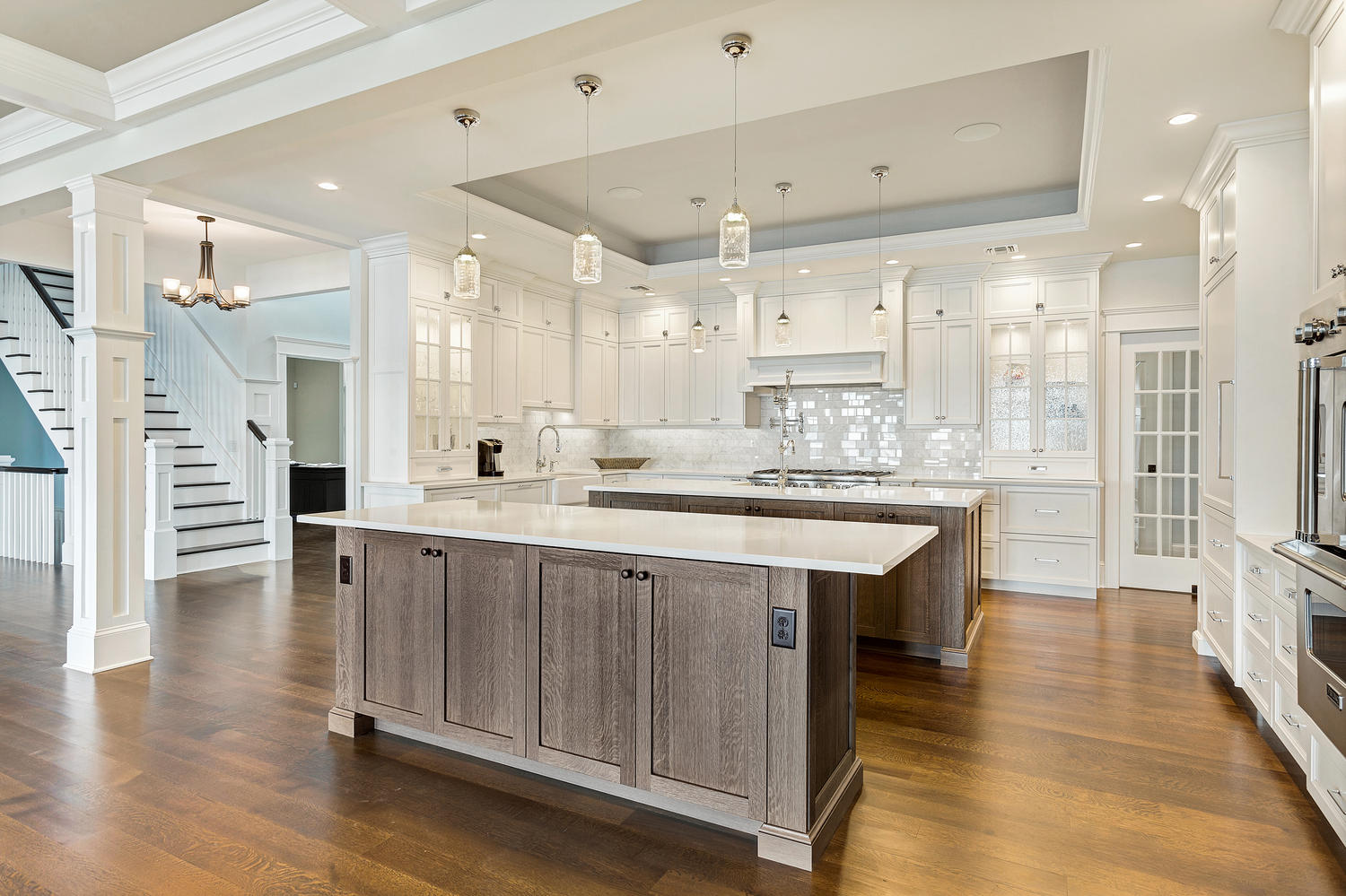 Exceptional Rich Two Tone Kitchen Part 18