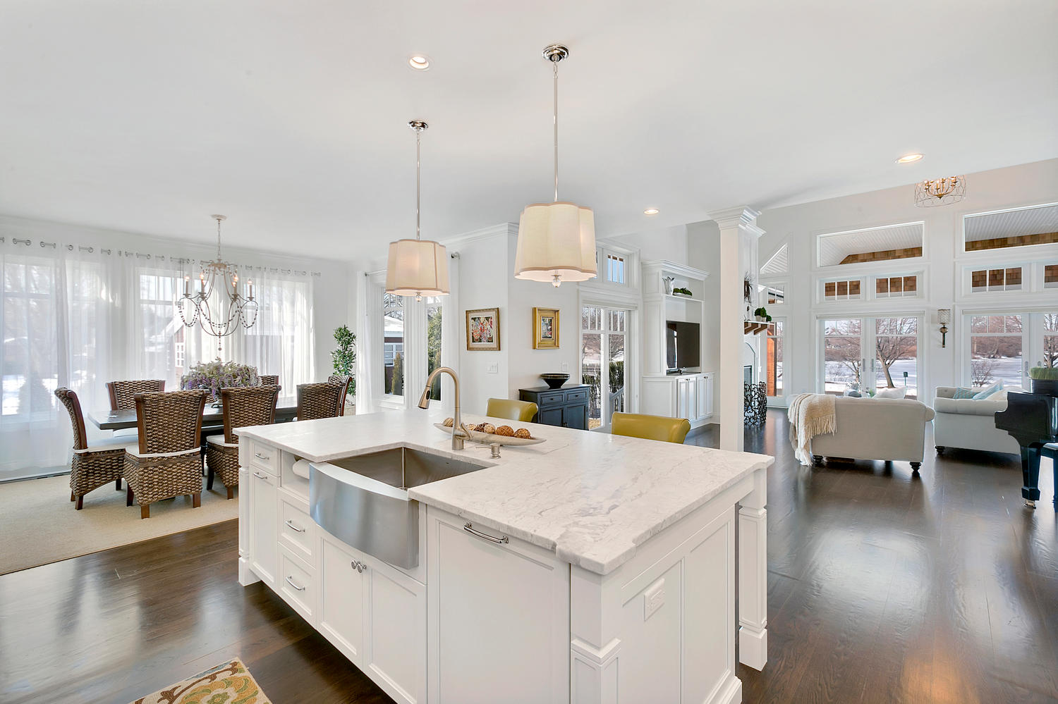 White Custom Kitchen Islands kitchen islands & peninsulas | design line kitchens in sea girt, nj