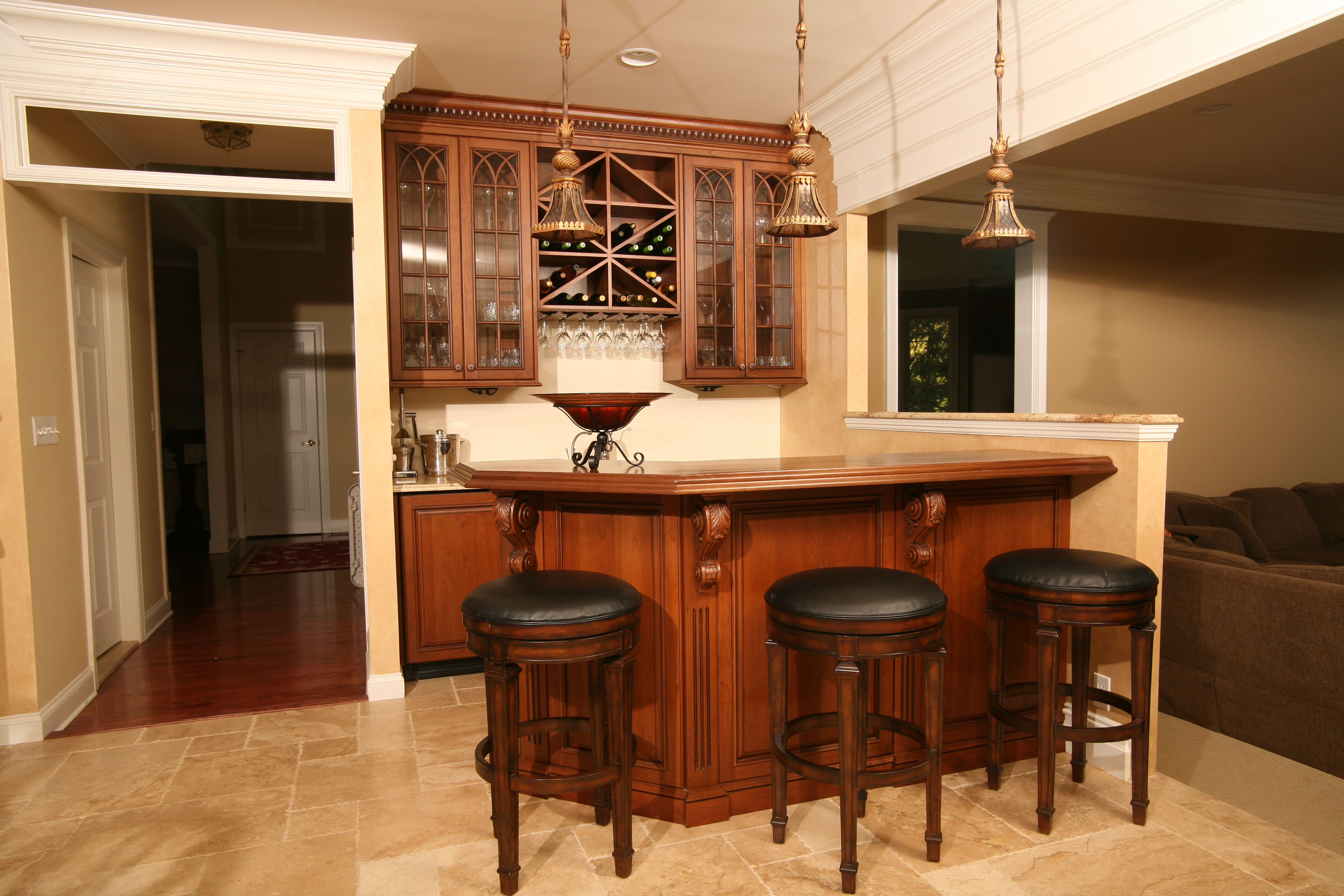 Custom Home Bars Design Line Kitchens In Sea Girt NJ