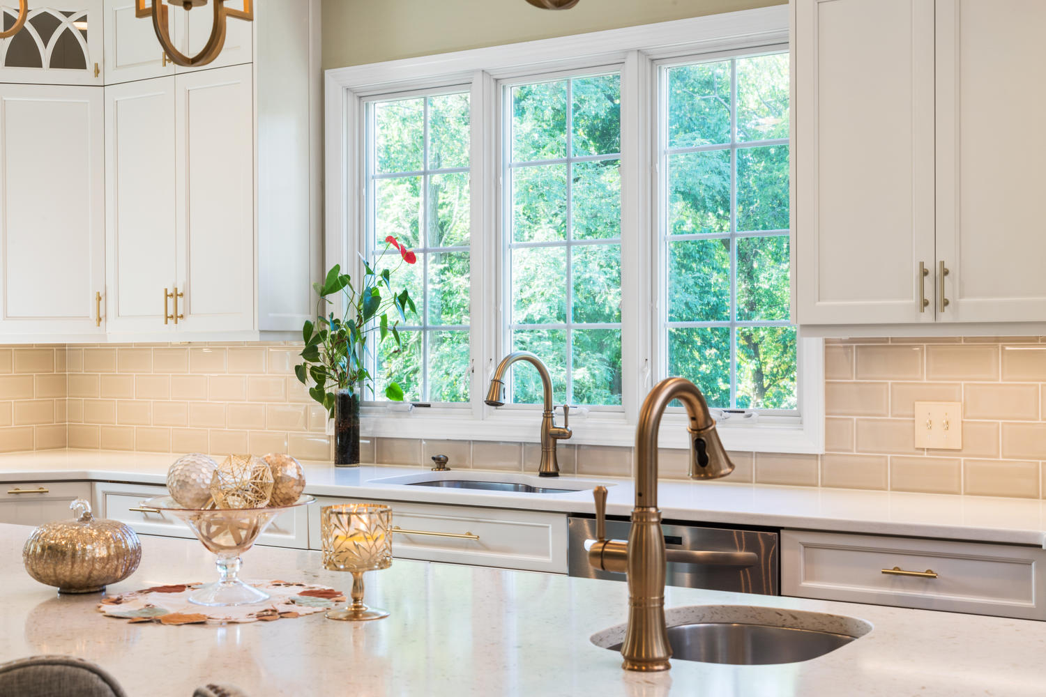 It\'s A Win With Gold Wall New Jersey by Design Line Kitchens