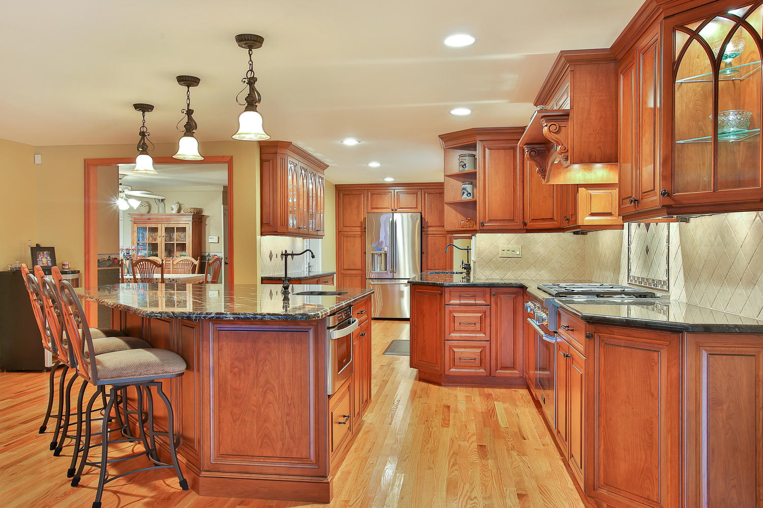 Custom Cherry Cabinet Kitchen Manasquan New Jersey By