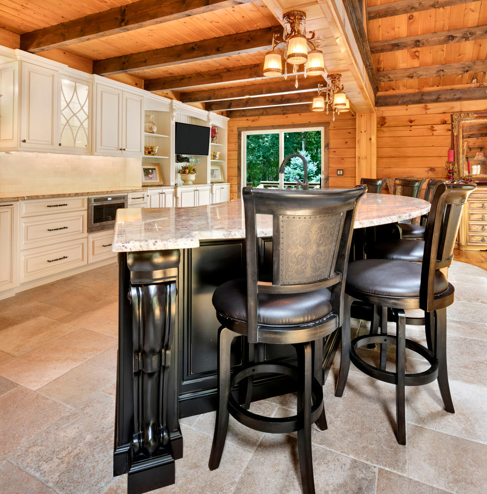 Log cabin kitchen howell new jersey by design line kitchens for Log cabin kitchen islands
