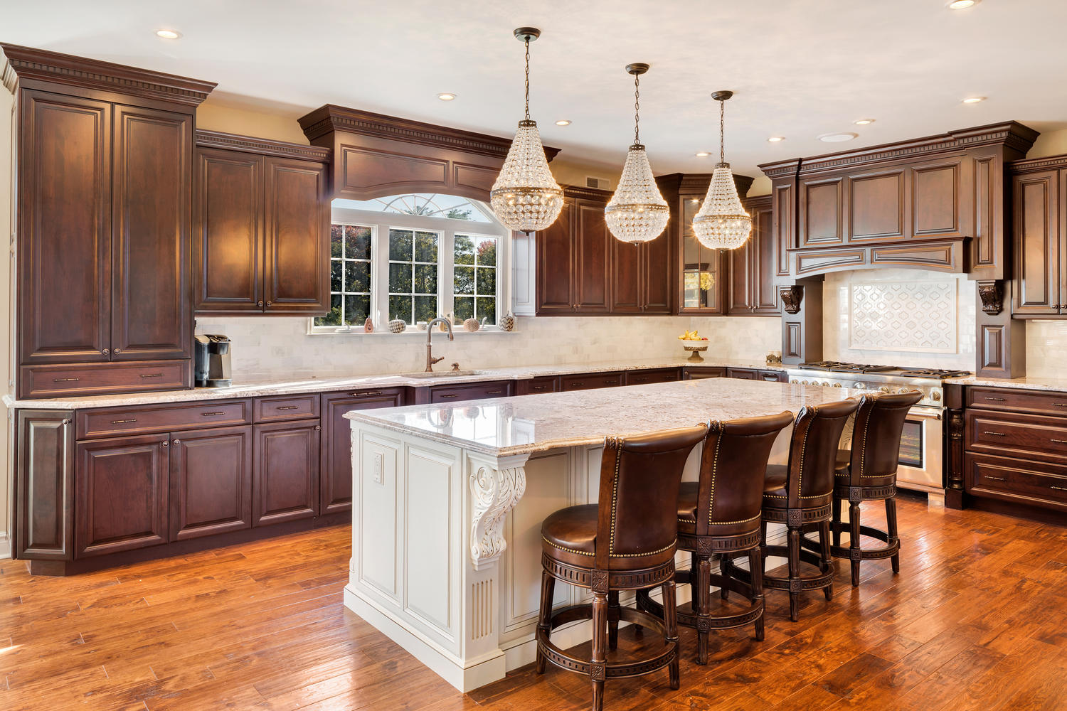 Dark Brown and White Kitchen Millstone New Jersey by ...