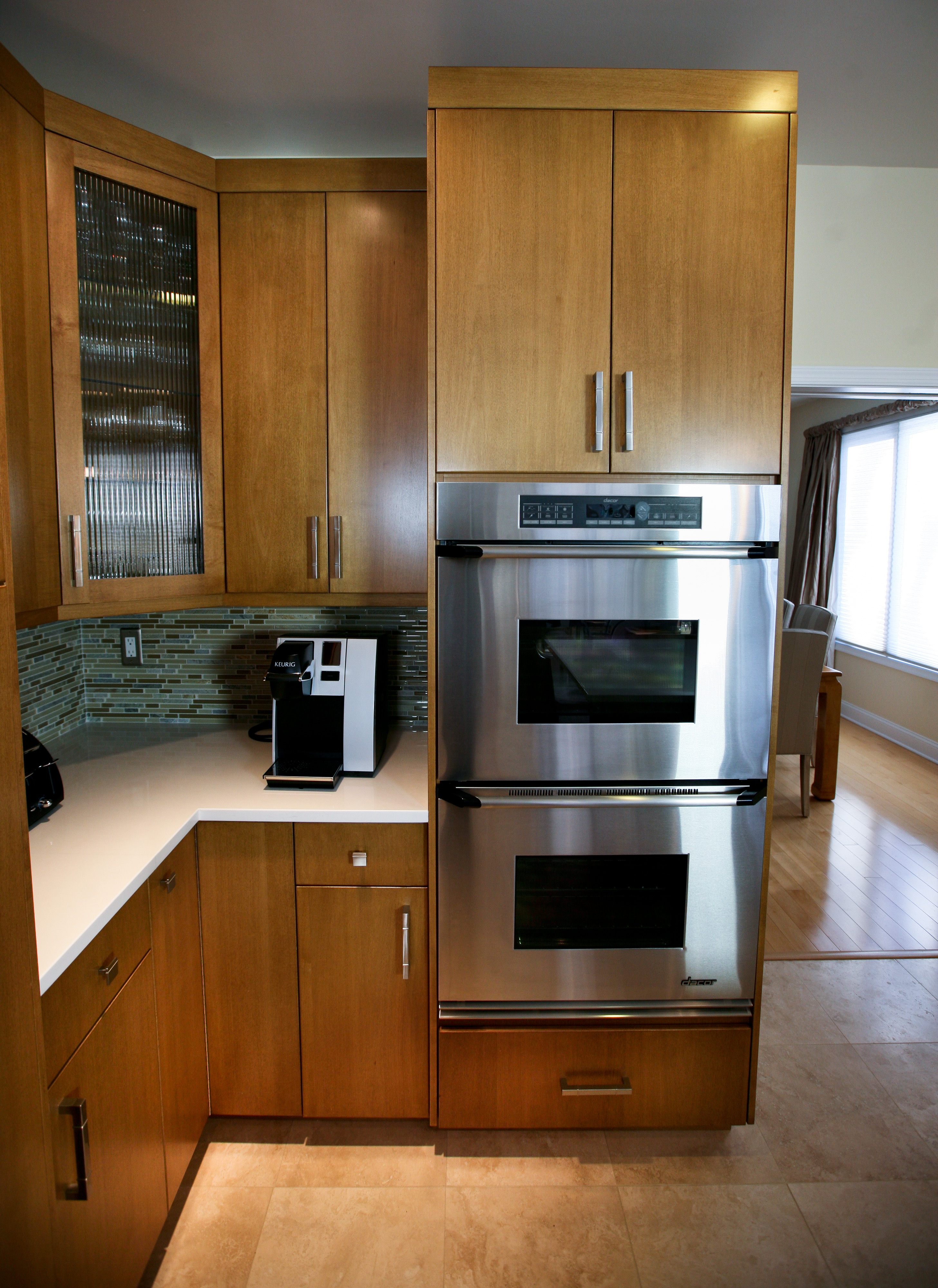European Kitchen Cabinets Nj - Cooktop and microwave crisp clean lines european cabinet style