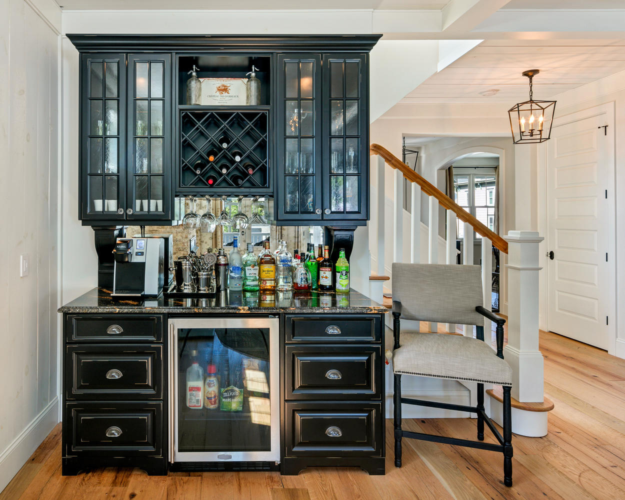 Built In Bar Designs: Black And White Kitchen Manasquan New Jersey By Design