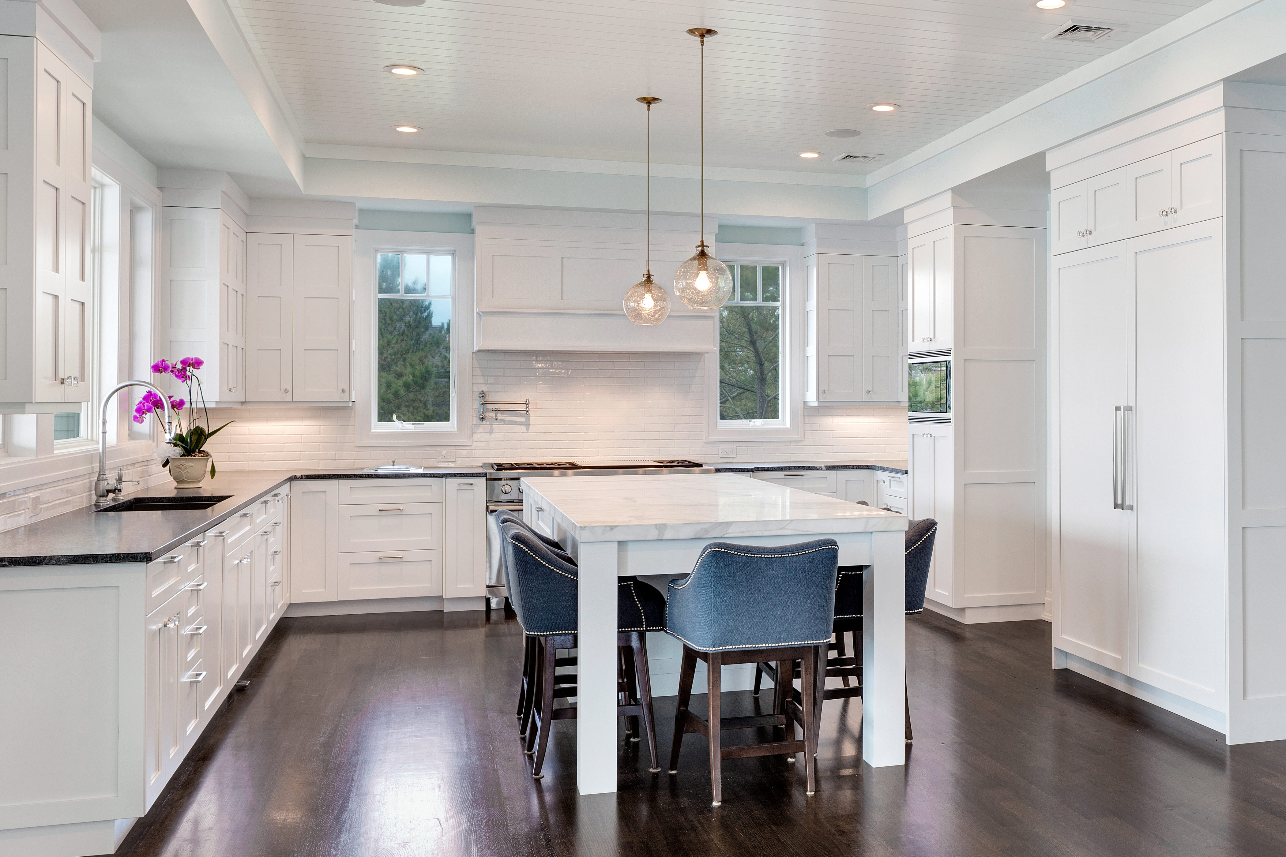 Transitional Kitchen White Transitional Kitchen Mantoloking New Jersey By Design Line