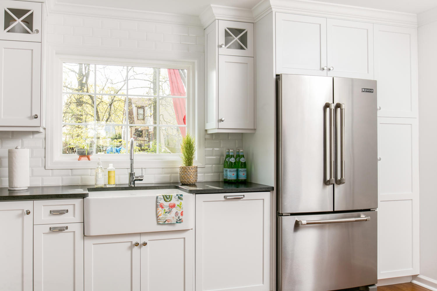A look at classic white kitchen shrewsbury new jersey by for Classic white kitchen design
