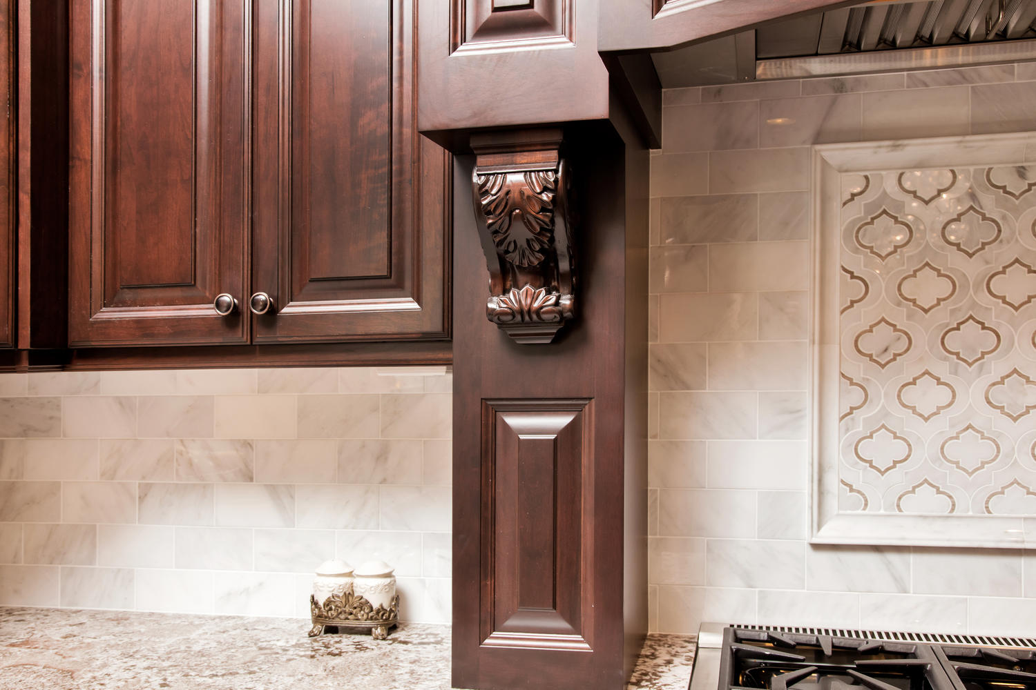 Dark Brown And White Kitchen Millstone New Jersey By