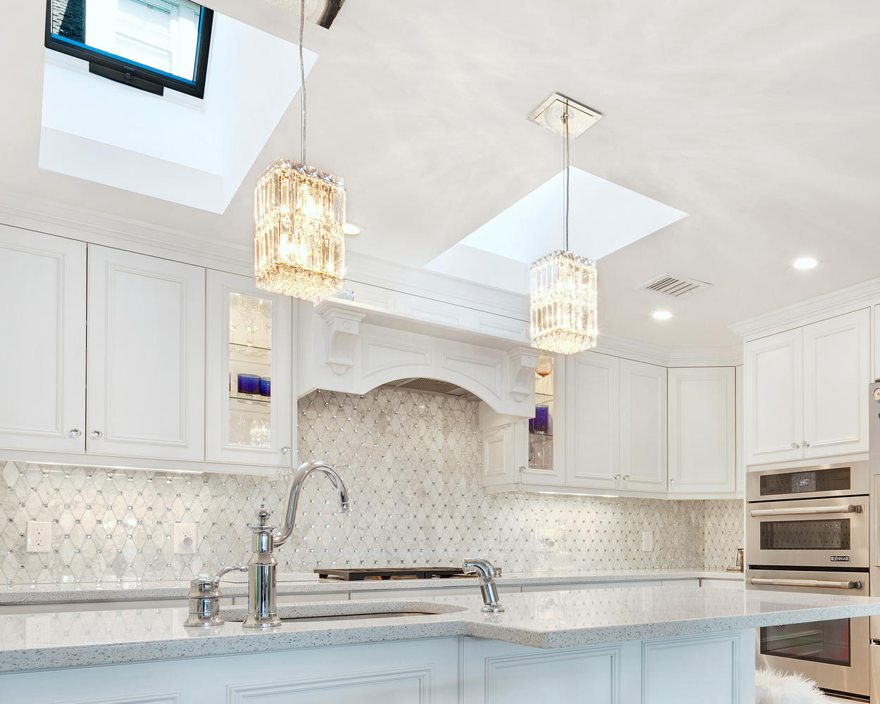 glamorous yellow white kitchen cabinets | White Kitchen with Glamour Ocean Grove New Jersey by ...