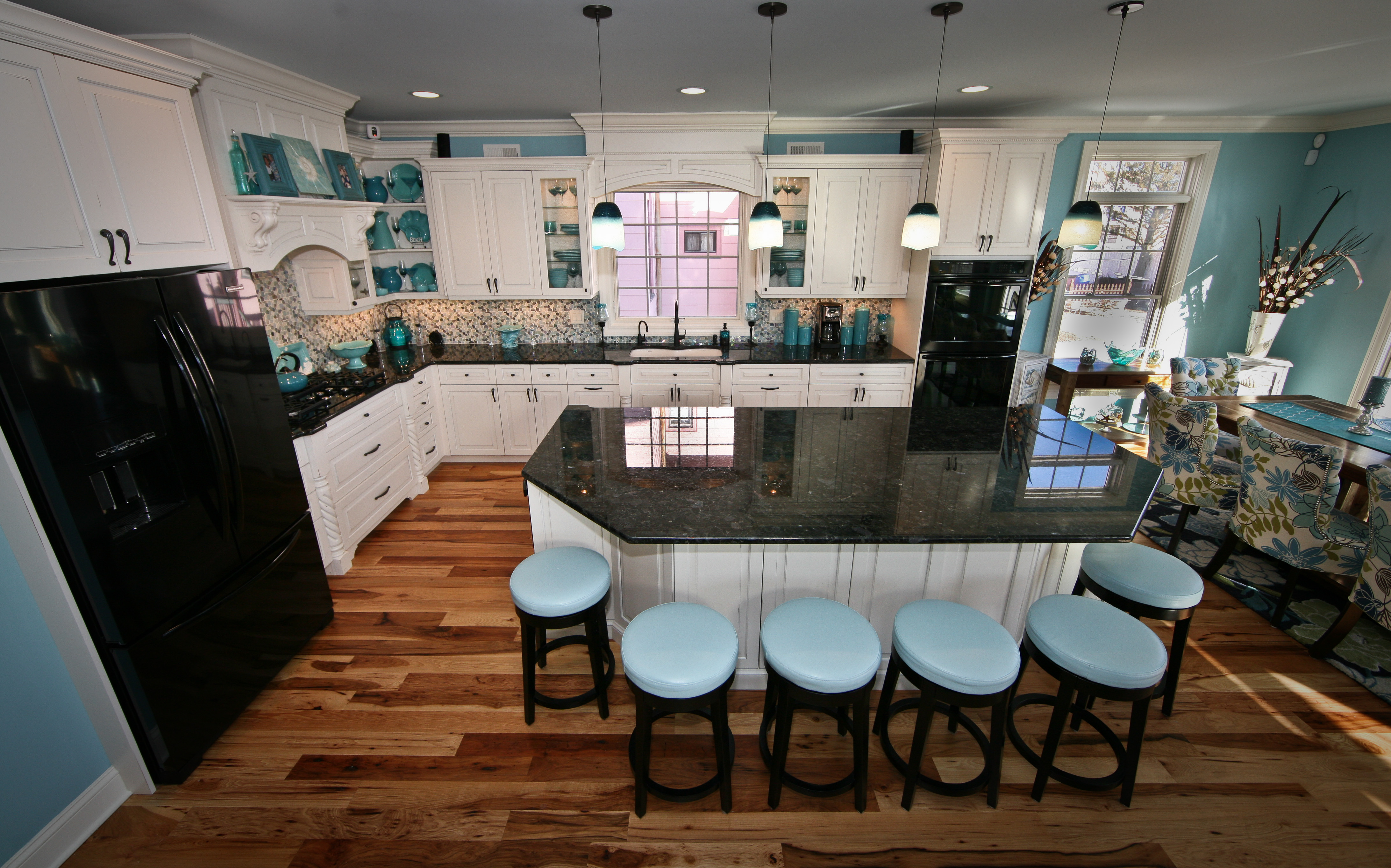 Teal Appeal Kitchen Point Pleasant New Jersey by Design Line Kitchens