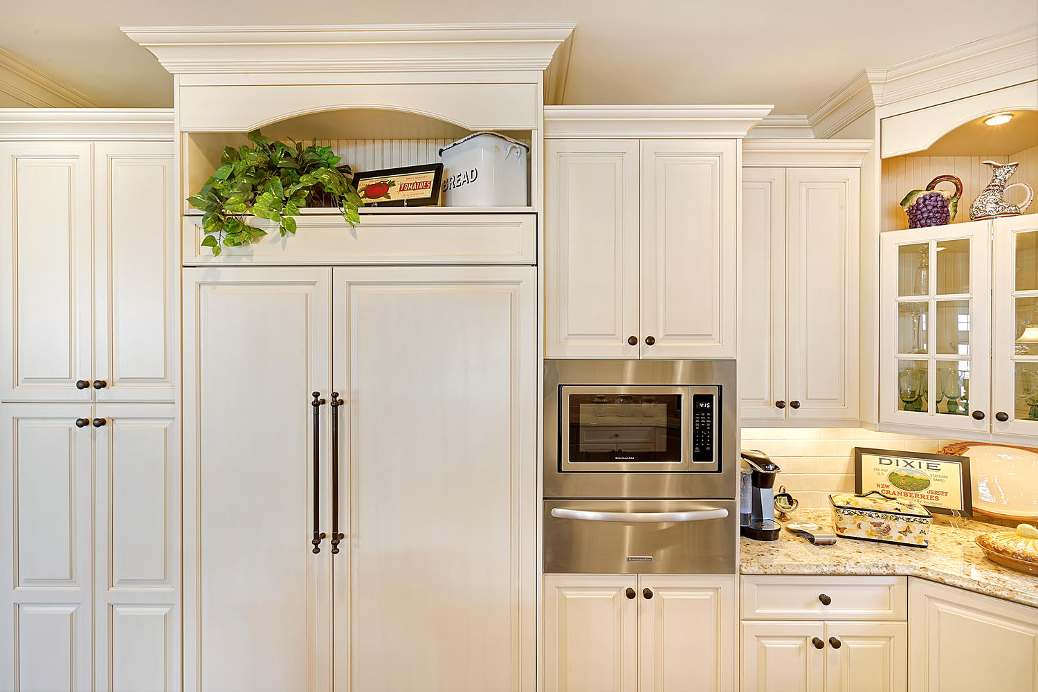 Cream and Cherry Kitchen Point Pleasant New Jersey by Design Line ...