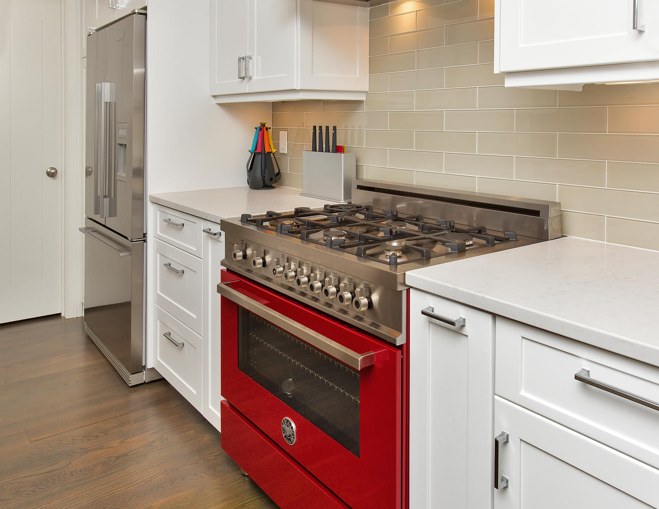 Uncategorized Kitchen Appliances New Jersey clean and contemporary kitchen manasquan new jersey by design line red range idea