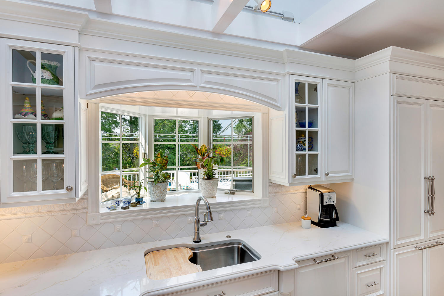 raised arch valance - Luxury White Kitchens