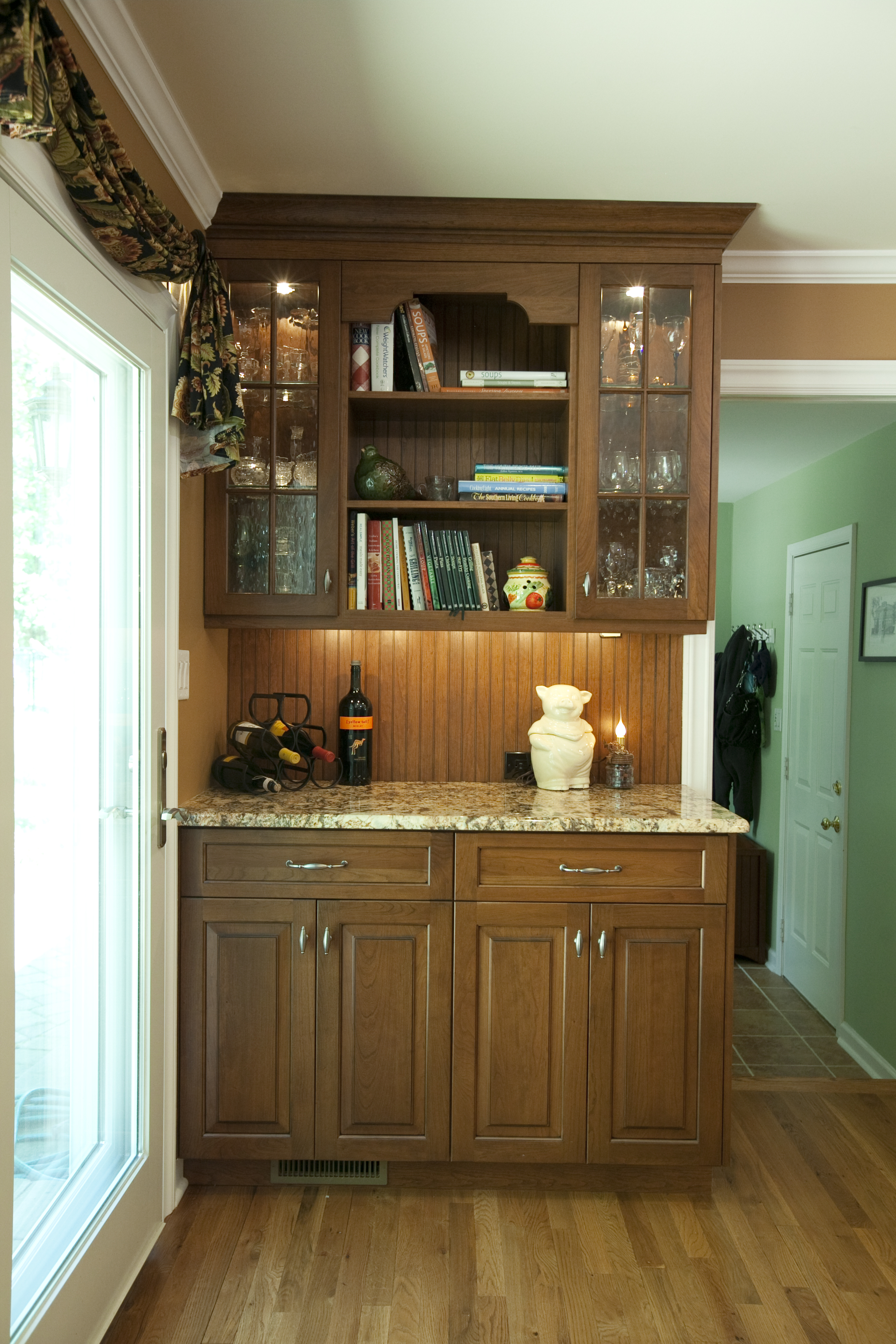 Built In Hutch Idea Solid Wood Cabinets With Wall Bar Units