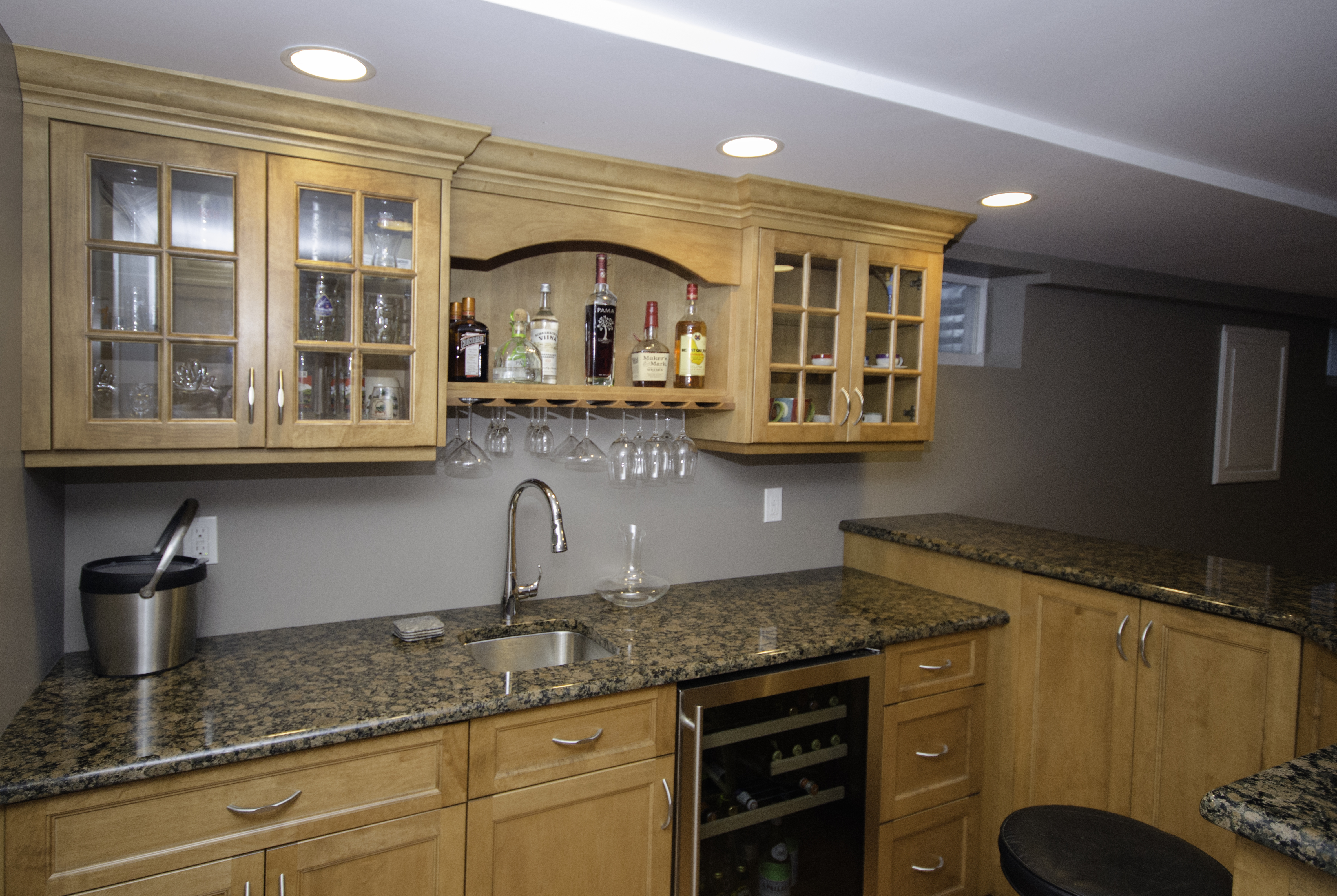 custom basement bar wall nj by design line kitchens