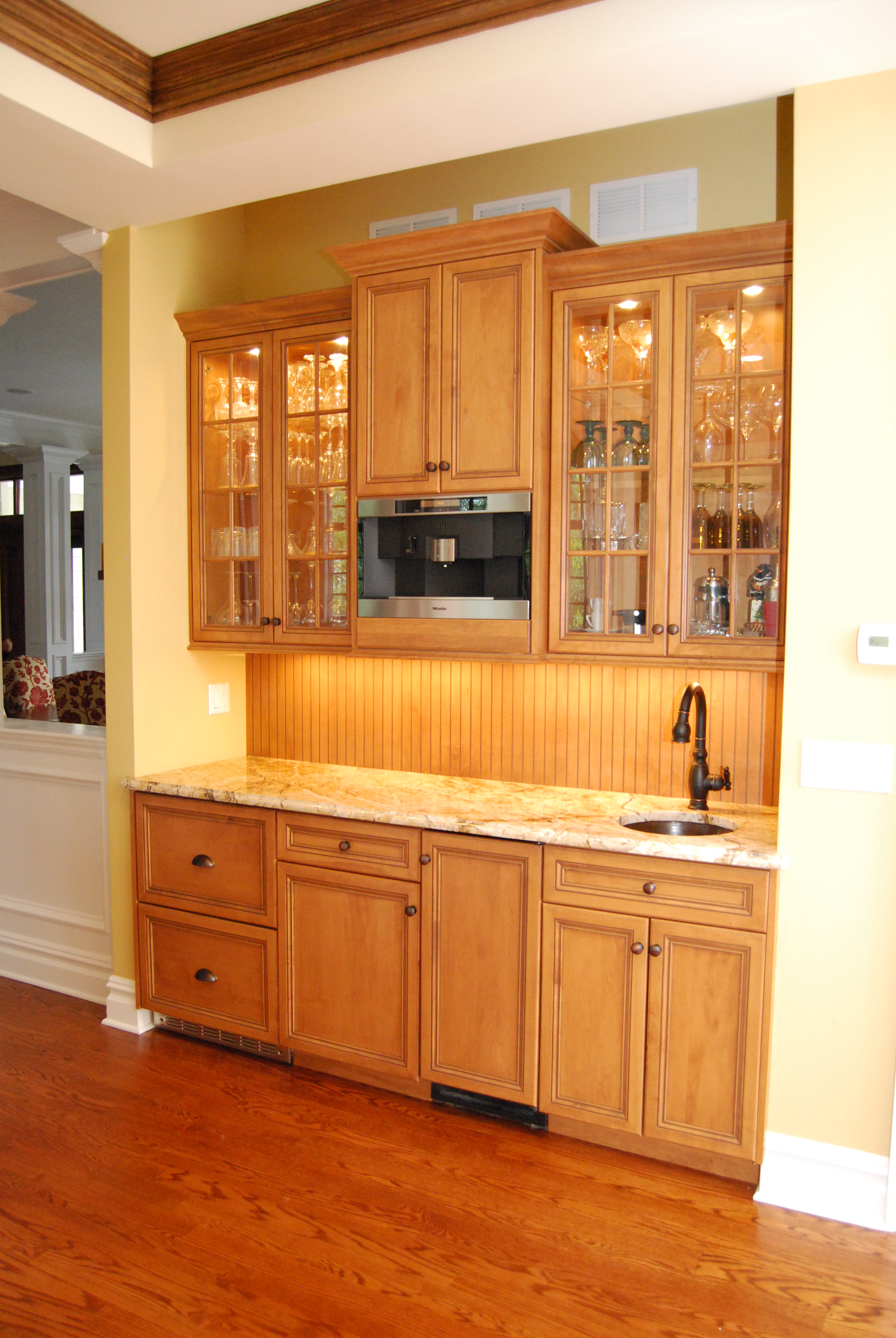 Fresh two tone kitchen avon nj by design line kitchens - Wet bar for home ...