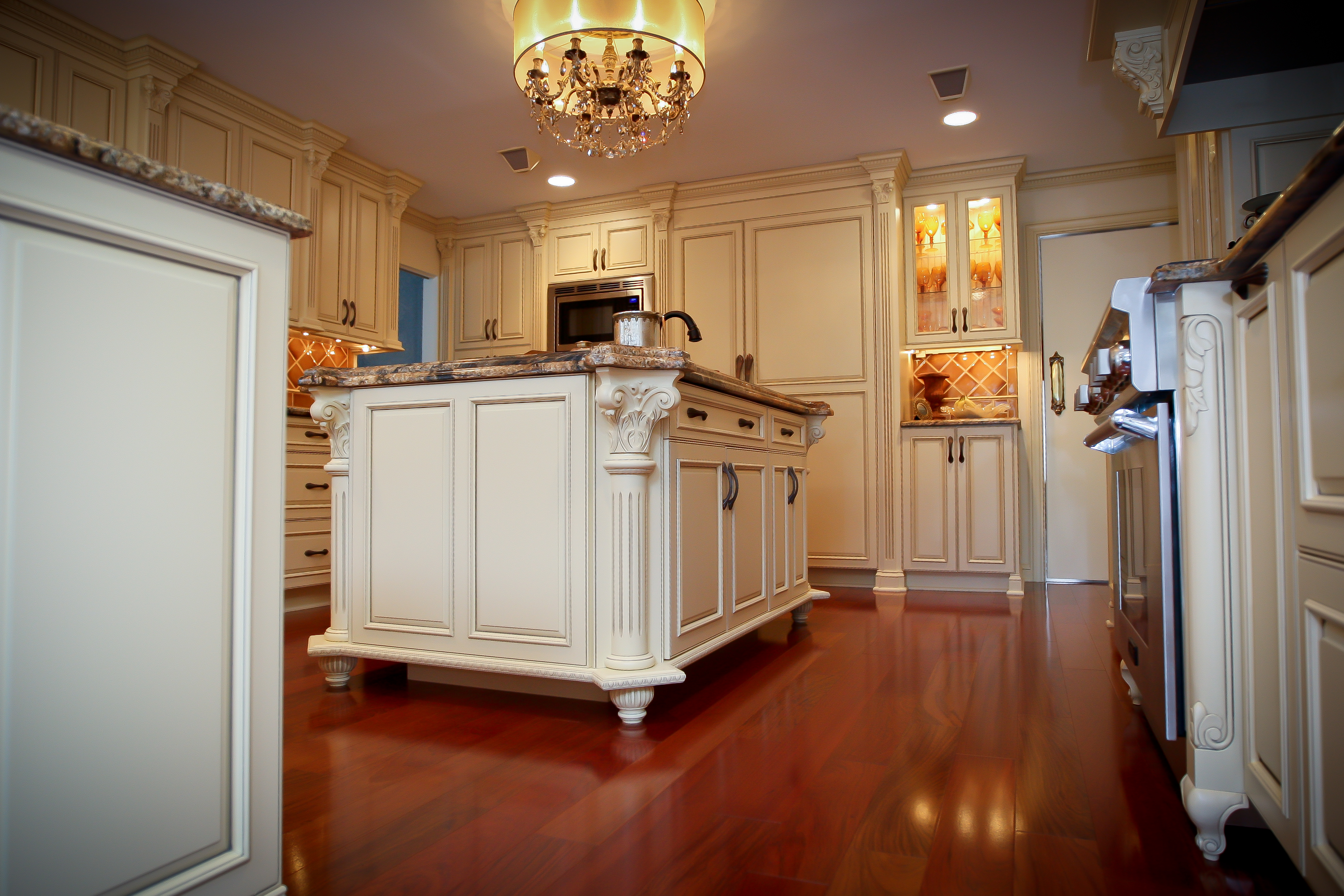 Traditional old world charm spring lake new jersey by design line kitchens Old world tuscan kitchen designs