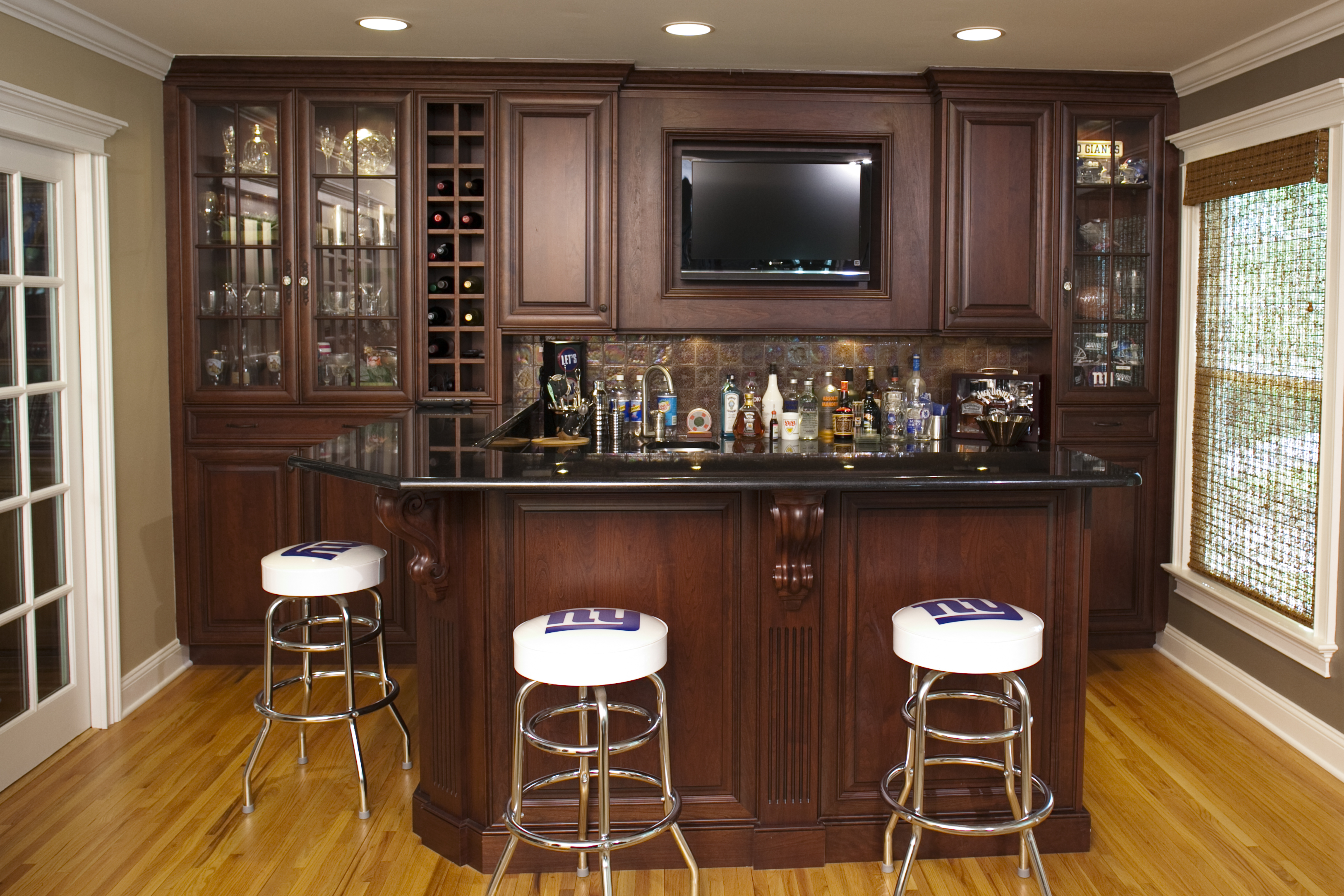 Custom home bars design line kitchens in sea girt nj Residential bar design ideas