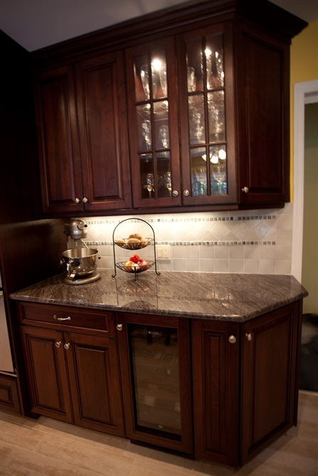 Bordeaux And Sable Glaze Kitchen Brielle New Jersey By
