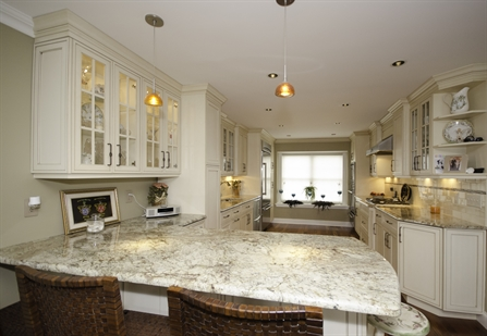 Galley kitchen with peninsula neptune nj by design line kitchens Marble granite kitchen design clifton nj