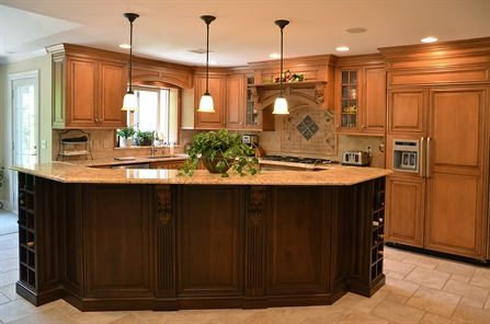 exciting unique kitchen island designs | Two Tone Kitchen Manasquan New Jersey by Design Line Kitchens