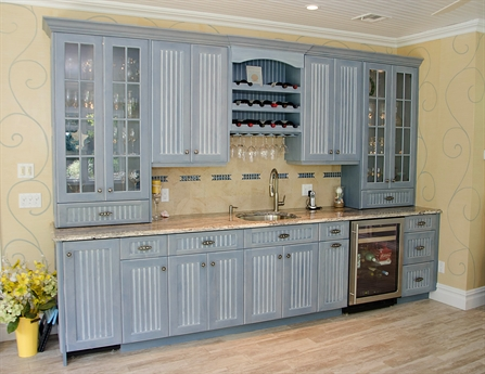 Custom cabinet wall built ins brielle new jersey by design for Built in wall bar ideas