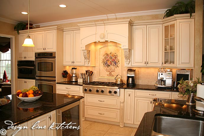 Tuscan style wood hood - kitchen cabi home design ideas50 blue