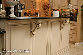 Tuscan arched wood hood